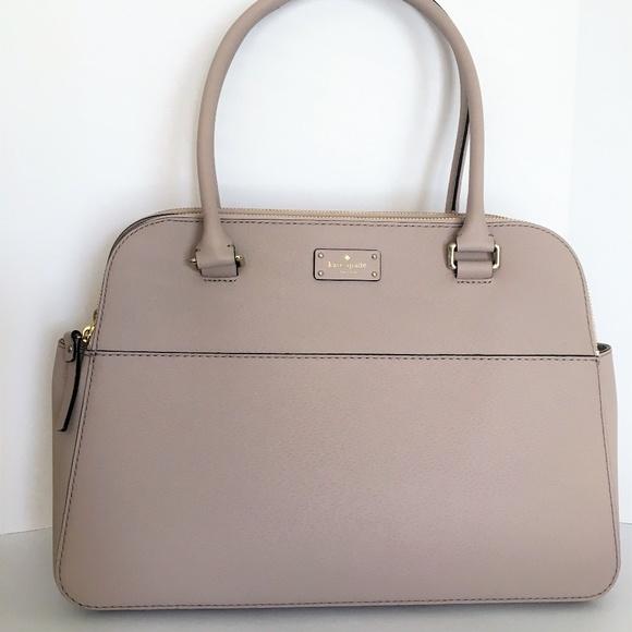 4607934d8140 Kate Spade Large Leather Shoulder Bag ~ Almondine